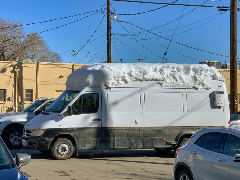 Snow Topped Sprinter Van